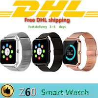 Free DHL 20pcs Z60 Bluetooth Smart Watch Phone Stainless Ste...