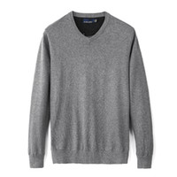 Mens Designer Automne Neuf Casual V-Col V-Col Pull Pull Sweater 100% Coton Pullover Sweaters Hommes Gratuit Hotklj