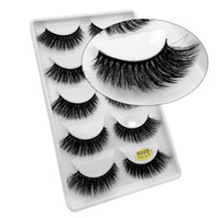 5 Pais Eye Lashes Thick Mink Cílios Falsos 5 Pares Cada conjunto Extensão Natural Volume Soft Eye Eye Lashes G800 Epacket Frete Grátis