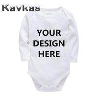 Kavkas 2020 Solide Baby-Kleidung Personalisierte Customization Cotton Sommer-Baby-Strampler 0-24 Monate Neugeborene Bebes Kleidung
