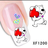 waterproof Water Transfer Nails Art Sticker cute cartoon lov...