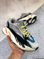 2020 Kanye GID Glow Antlia Synth Chameleon All Black Static Reflective Pure white Pink West Fluorescent Green Zapatillas de running36-45