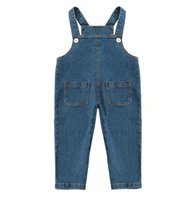 2019 new baby soft denim overalls 2345 years old girls autum...