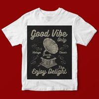 GOOD VIBE ONLY T- SHIRT UNISEX 879 Short Sleeve Shirts Tops S...