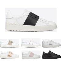 2019 جديد arrivel الفاخرة مصمم الأزياء والأحذية الأبيض الرجال والنساء جلد عارضة المفتوحة منخفضة الرياضية حذاء رياضة حجم 35-46 مع صندوق