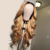 1B 27 Blonde Full Lace Wigs Human Hair Glueless Virgin Body ...