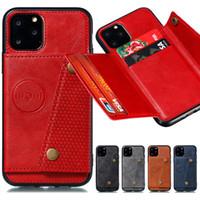 iPhone için Araç Manyetik Arka Kapak PU Deri Telefon Kılıfı 11 Pro X XR XS MAX 6 7 8 ve Samsung Galaxy Note 10 Pro 9 S10 Kenar S9 S8 Artı