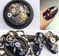 Nail Art Decoration Steampunk Parts Clock Stud Gear 3D Time Nail Art Wheel Metal Manicure Smycken SZ269