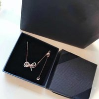 Luxury pendant crystal necklace women designer LIFELONG BOW ...