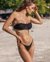 las mujeres de descuento señoras atractivas de la tela conjunto Bikinis chica burbuja dentada impresión de la raya de una sola pieza la impresión del arco del hombro del leopardo altura de la cintura dividida yakuda