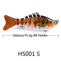 Pesca Wobbler Lifelike 6 Segmento Swimbait Crankbait rígido Bait 10 centímetros lenta 17g Isca Artificial Lures Pesqueiro Frete Grátis