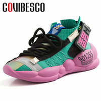 COVIBESCO Moda Casual Donna Flats New 2019 Primavera Estate Piattaforme a punta tonda Lace Up Donna Sneakers Partito Basic Shoes Donna