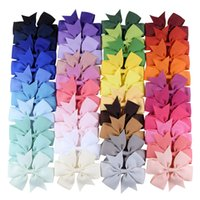 40 Colors Kid Girls Hair Barrette Clip Bow Hairbow Hairpin S...