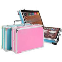 145/150/168/208 PCS peinture Art Set Crayon de couleur Aquarelle Pen huile de pastel Outils de dessin Fournitures Kit papeterie cadeau