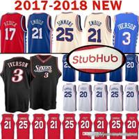 faa9df984 Top quality Joel 21 Embiid Philadelphia Jersey 76ers Ben 25 Simmons  Markelle 20 Fultz Allen 3 Iverson J.J. 17 Redick Mesh Retro Jerseys