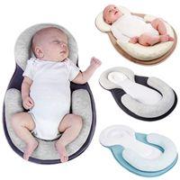 Travesseiro de bebê Recém-nascido Anti-rollover Colchão Pillow Baby Sleep Posicionamento Pad Evitar Forma de Cabeça Plana Anti Rolo