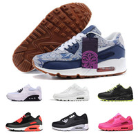 Classic 90 Casual Running Shoes For Men Women 90 Black White...