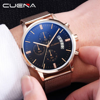 Mens Watches Top  Business Quartz Watch Stainless Steel Mesh...
