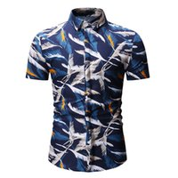 Mens Summer Beach Hawaiian Shirt Brand Short Sleeve printed ...