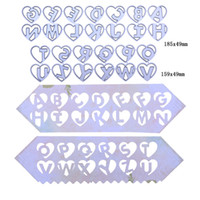 26pcs Set Heart English Letter Metal Cutting Dies Stencil fo...