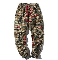 Looes Designer Mens Pantalon Hiphop Camouflage Mode Crayon Pantalon Casual Cordon Adolescent Pantalon De Survêtement Plus La Taille Vêtements Pour Homme