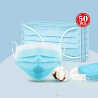 Disposable Face Masks 3 ply Dustproof Nonwoven Face Mouth ma...