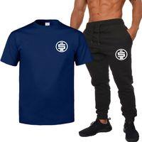 Moda-Nipsey Hussle Mens Summer Tracksuits Designer Mens Camisetas Calças 2 Pcs Roupas Define Ternos De Calças