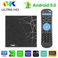 T95 max Android 9.0 TV Box 2GB 16GB 4GB 32GB TV Box Allwinner H6 Dört Çekirdekli Akıllı TV VS Q artı