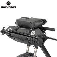 Saco de bicicleta ROCKBROS Big Capacidade impermeável Tubo Frente Ciclismo Bag MTB guiador Bag Frente quadro Tronco Pannier Acessórios bicicleta