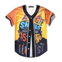 Camicia di modo 3D Uomini baseball sport Jersey di buona qualità con il tasto Vendite online 46