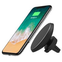 Wireless Car Charger W3 Magnetic Holder for iPhone 8 X Samsu...