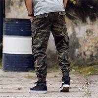 20SS Mode Coton Designer Mens Camouflage Pantalon de jogging Cadre Zipper Combinaisons Pantalon pied Pantalon Pantalon de styliste Hip Hop Houboufle irrégulier M-3XL