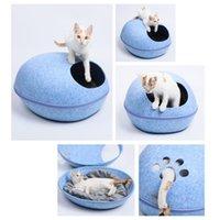 Cueva del gato mascota cama caliente del gato Camas cómodas cojín redondo Gatos Gatitos Mascotas Rest House Jaula