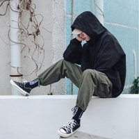 Spring and autumn thin solid color hooded hooded jacket men&...