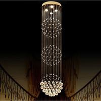 كبيرة فاخرة كريستال الثريا غرفة المعيشة بريقا سالا دي كريستال الحديثة جولة الكرة الثريات الإضاءة الزفاف ديكو