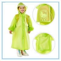 Brasão saco de escola de moda com capuz Raincoat EVA Raincoats crianças Poncho Crianças Rainwear Viagem chuva impermeável chuva desgaste 5 cores DBC DH0737