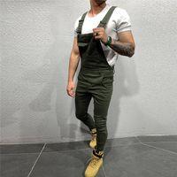 Мужские джинсы мужские брюки для мужчин карманный джинсовый общий комбинезон прохладный дизайнер бренд стритювая сексуальная подвеска брюки E21