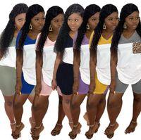 Kadınlar Tasarımcı yazlık kıyafetler Derin V yaka Cep T-shrits + Şort 2 Adet Eşofman Tee Suit Casual Spor DHL Free2797 Koşu Tops ayarlar