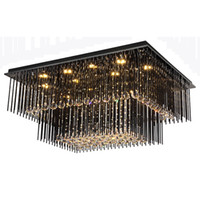Modern crystal chandelier lamps flush mounted ceiling lights...