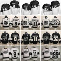 2020 Stade Series La Los Angeles Kings 8 Drew Doughty Jersey 11 Anze Kopitar Jonathan Quick Wayne Gretzky Blanc Black Hockey Hommes Kid Femmes