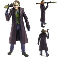 "Film Joker figura di azione Batman The Dark Knight Rises Heath Ledger 5"" Il Joker Comics Doll Giocattoli"