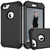 Lüks Darbeye Telefon Kılıfları iPhone 7 6 6 S Artı PC + TPU 3-Layers Hibrid Tam iPhone7 için Vaka Korumak Anti-Vur Telefon Kabuk