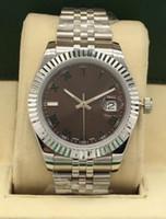 럭셔리 남자 41mm 하루가 될거야 남성 기계 자동 시계 전체 스테인레스 스틸 스트랩 망은 최고 품질 남자 스포츠 손목 시계를보고