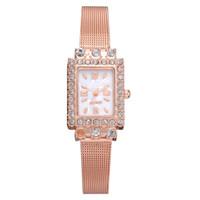 Reloj de lujo Vestido de moda Relojes de muñeca de cuarzo Señoras de acero inoxidable impermeable Relogio Feminino + Caja