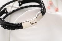 Mens Bracciali fortunato Digital 8 epoca fai da te multistrato splendidamente Bracciali in pelle braccialetti dei braccialetti della fasciatura di marca donne di fascino degli uomini