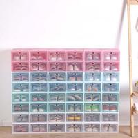 جديد شفاف صندوق تخزين الأحذية البلاستيكية مربع الأحذية اليابانية سميكة الوجه درج صندوق تخزين الأحذية منظم