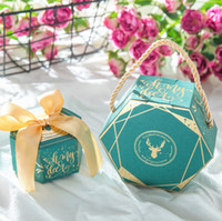 Marble Creative Wedding Candy Boxes Guest Favors Geometric G...