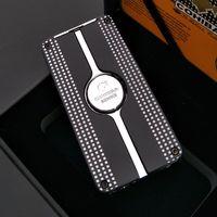 COHIBA Черного Behike Классический Экологичный 3 факел Jet Flame сигара Cgarette зажигалки с Панч Бесплатной доставкой