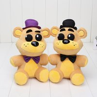 Em stock 25cm FNAF Cinco Noites No Freddy plush toys Nightmare Fredbear Golden Freddy Fazbear boneco de peluche