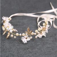 سوبر الجنية عقال زهرة اكليل عقال موري أنثى العروسة العروس ماكياج الحلو الكورية عقدة غطاء الرأس الزفاف